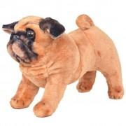 vidaXL Standing Plush Toy Pug Dog Light Brown XXL