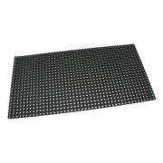 Černá gumová vstupní venkovní čistící rohož Octomat Mini - délka 50 cm, šířka 100 cm a výška 1,25 cm