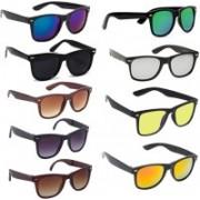 SRPM Wayfarer Sunglasses(Blue, Green, Black, Brown, Yellow, Silver)