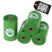 Bolsas biodegradables para heces ¡en oferta! - 4 rollos de 15 bolsas cada uno