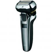 Aparat de barbierit Panasonic ES-LV9Q-S803 Wet & Dry, 5 lame, Cap Multi-Flex 5D, Trimmer, Statie de incarcare, Li-Ion, Aut 45 min, Carcasa metalica, Argintiu/Negru