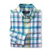 ランズエンド LANDS' END ボーイズ・ポプリン・チェック・シャツ【キッズ・子供服・男の子】(ホワイトマルチプラッド)