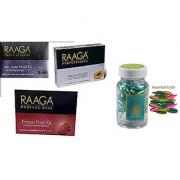 Raaga Professional Anti-Ageing+ Platinum+Fairness With Capsule Free Facial Kit 43 g Pack of 3