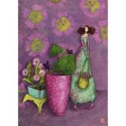 grote kaart A4 gaëlle boissonnard - meisje met planten