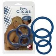 You2Toys [3 Pack] Sexy Circles Cock Ring Set Blue 0519278
