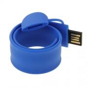 Silicone Bracelet USB Flash Disk with 32GB Memory(Dark Blue)