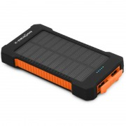 X-DRAGON Solar Power Bank Portable Charger Outdoor Emergency Battery for iPhone iPad Samsung Xiaomi Huawei Etc - Orange