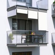 Jarolift Roleta na balkon/markiza pionowa, Biała, 120x140cm