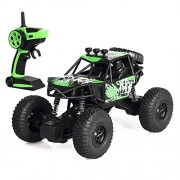 SaiDeng 2.4G Remote Control Car 1:20 Military Off-Road Climbing Auto Toy Car Controller Toys Four-Drive RC Vehicle Toy Gift for Children Kids Boys Green