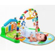 Life-Tandy Baby Kick and Gym Play Mat Lay & Play 3 in 1 Fitness Music And Lights Fun Piano Girl Boy