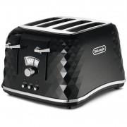 DeLonghi Brillante 4 Slice Toaster - Jet Black