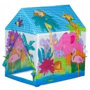 Cort tip Casuta Zoo pentru Copii Multicolora pentru Joaca in Casa sau Afara
