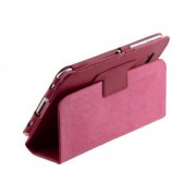 Synthetic Leather Flip Case with Fold-Back Stand for Samsung Galaxy Tab 7.0 Plus - Samsung Leather Flip Case (Raspberry)