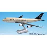 Saudi Arabian (97-Cur) Boeing 747-400 Airplane Miniature Model Snap Fit 1:200 Part#ABO-74740H-008