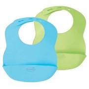 Summer Infant Bibbity Rinse & Roll Bib 2 Pack- Blue/Green