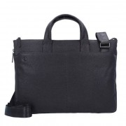 Piquadro Black Square Aktentasche Leder 42 cm Laptopfach