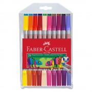 Carioci cu 2 capete 20 culori/set FABER-CASTELL, FC151119