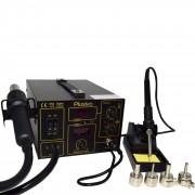 Stație de Lipit Digitală Plusivo Profesională cu Letcon și Aer Cald - cu Pompă de Aer Calitate Premium