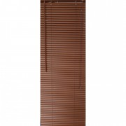 Jaluzea orizontala material PVC, culoare maro, imitatie lemn,inchis, L80cm x H 110 cm