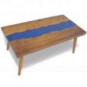 vidaXL Coffee Table Teak Resin 100x50x40 cm