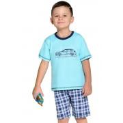 Pijama albastră pentru băieți cu mașină 122