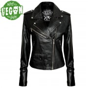veste pour femmes (couteau laguiole) KILLSTAR - Vegan Biker - Noire - 0302