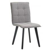 CLP Sedia sala da pranzo Miller, in tessuto, telaio color nero, grigio , grigio, altezza seduta