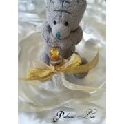 Сувенири за гости на сватба бал и кръщене в бяло и златно кристал Дуо над 20 бр