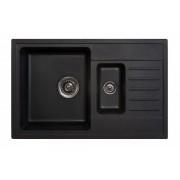 Sudopera Metalac X Granit Quadro Plus 1.5D fi 90 sa sifonom, Crna, 158549