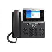 Cisco Systems IP Phone 8861 - With Multiplatform Phone Firmware - VoIP-telefoon - IEEE 802.11a/b/g/n/ac (Wi-Fi) - SIP, RTCP, RTP, SRTP, SDP - houtskool