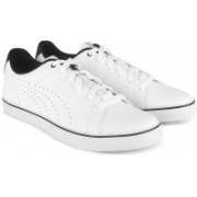 Puma Court Point Vulc Perf V2 Sneakers For Men(White)