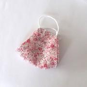 Masca medicala protectie copii bumbac reutilizabila model floral roz 4 ani+