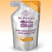 V&V Bio mýdlo tekuté Marseille Pomeranč - náhradní náplň 250ml - Ma Provence