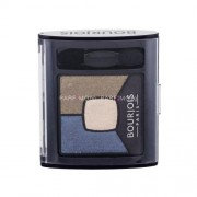 Bourjois Paris Smoky Stories Quad Eyeshadow Palette 3,2g Сенки за очи за Жени Нюанс - 10 Welcome Black