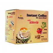 Ayura Herbal ganodermás instant 100% arabica cappuccino steviával 10x15g