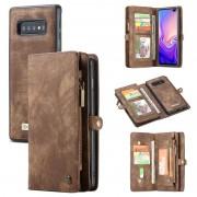 Bolsa Multifuncional Caseme 2-em-1 para Samsung Galaxy S10 - Castanho