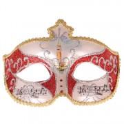 Venetiaans masker glitters rood met goud