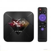 R-TV X10 Plus 6K LED TV Box Android 9.0 Quad-Core Dual WiFi 4GB+64GB Media Player - UK Plug