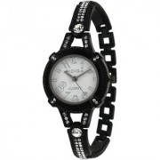 RIDIQA Analog Crystal Studded WHITE Dial Stainless Steel Wrist Watch ForGirls Women-RD-079