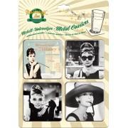 Suporturi pahare metalice - Audrey Hepburn Breakfast