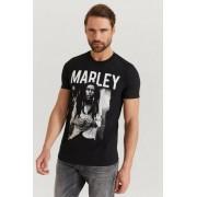 Rock Off T-Shirt Bob Marley Tee Svart