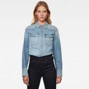 G-Star RAW Dames Western Denim Relaxed Overhemd Lichtblauw - Dames - Lichtblauw - Grootte: Small