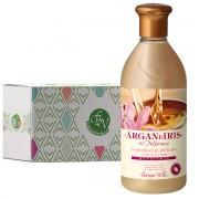 Bottega Verde - Gel de dus delicat cu ulei de argan si lapte de Iris in cutie cadou