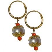 Men Style Best Selling Peral Bali SEr08004 Gold Alloy piercing Stud Earring For Men And Boy