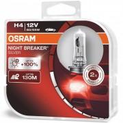 Izzó 12V/60/55W/H4 2db/+100% Osram Night Breaker Silver 64193NBS-HCB