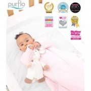 Sac de dormit PurFlo uni 0-3 luni 60 cm Culoare - Roz