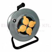 Z-TOOLS kábeldob fém, Gumi szig. kábellel 25m 3x1,5 230V IP44