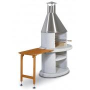 Norman Odkladací stolík ARCUS drevo hnedý