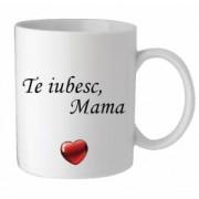 Cana personalizata te iubesc mama cu o poza si mesaj