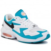 Обувки NIKE - Air Max2 Light AO1741 100 White/Black/Blue Lagoon